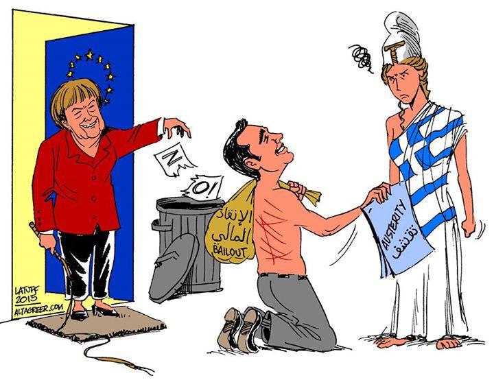 Risultati immagini per Il crollo di Tsipras che dice sì all'Europa